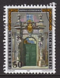 Liechtenstein SG920 1987 Palace 50r good/fine used
